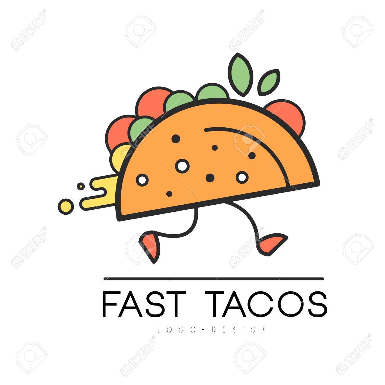 fast tacos design food service delivery creative template for