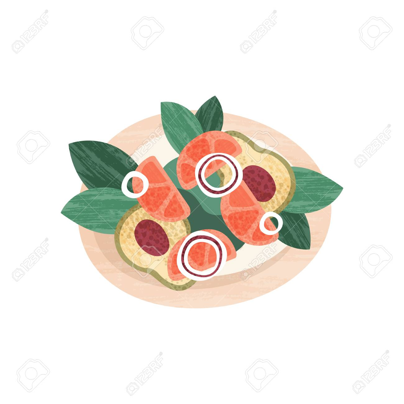 Delicious salad with fresh vegetables  Healthy nutrition theme