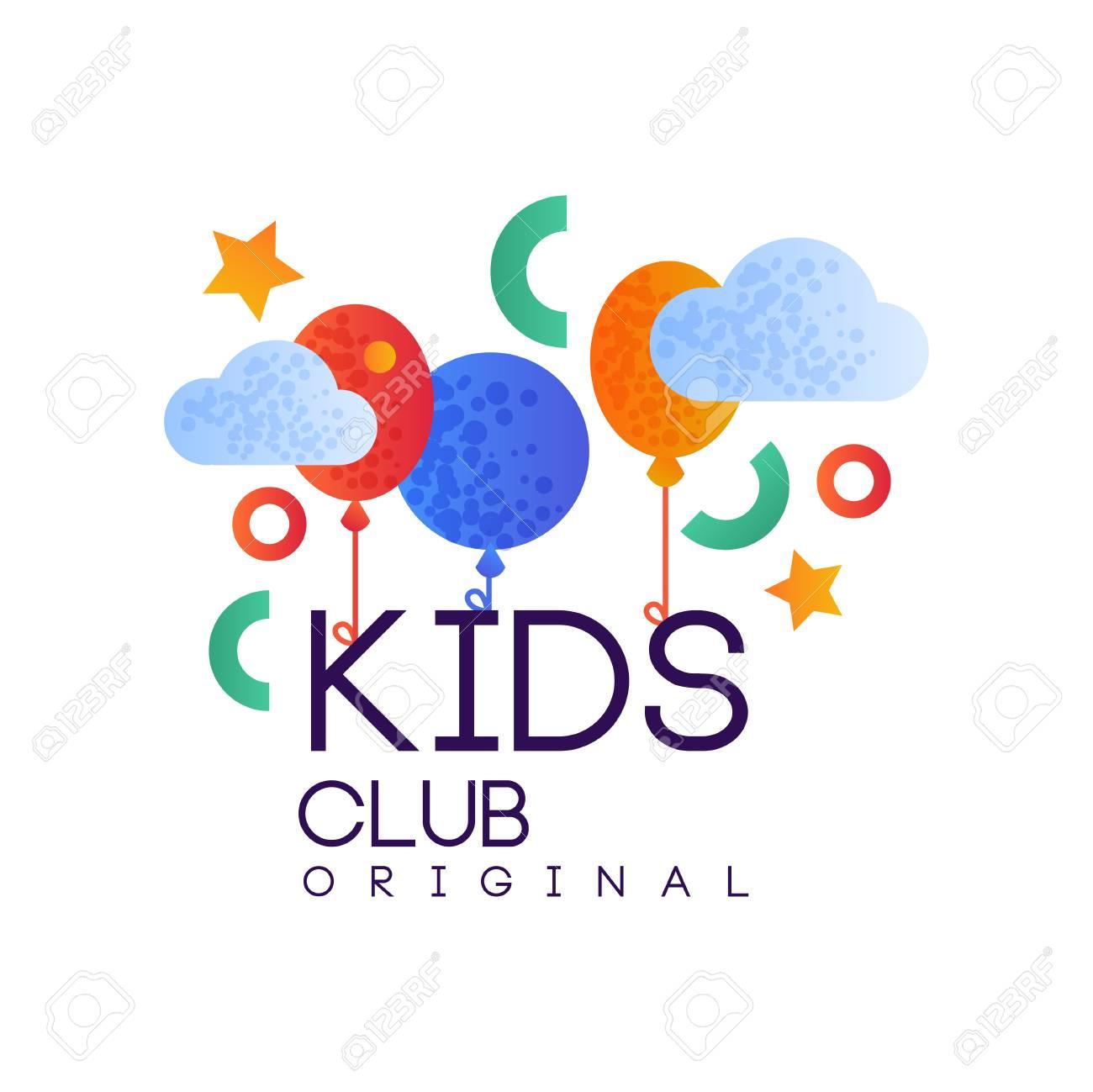 Kids Club Original Creative Label Template Playground