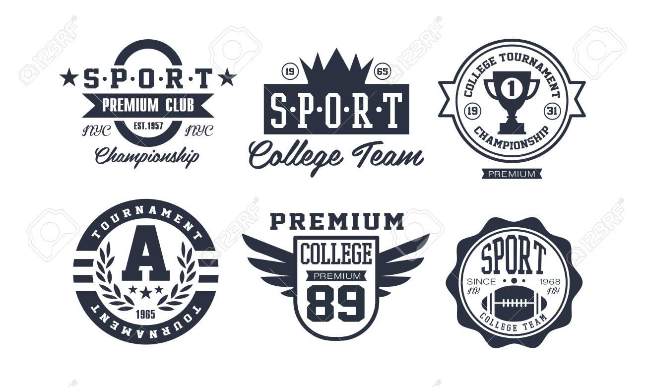 sport college team design set vintage premium sport club emblem royalty free cliparts vectors and stock illustration image 127951491 123rf com
