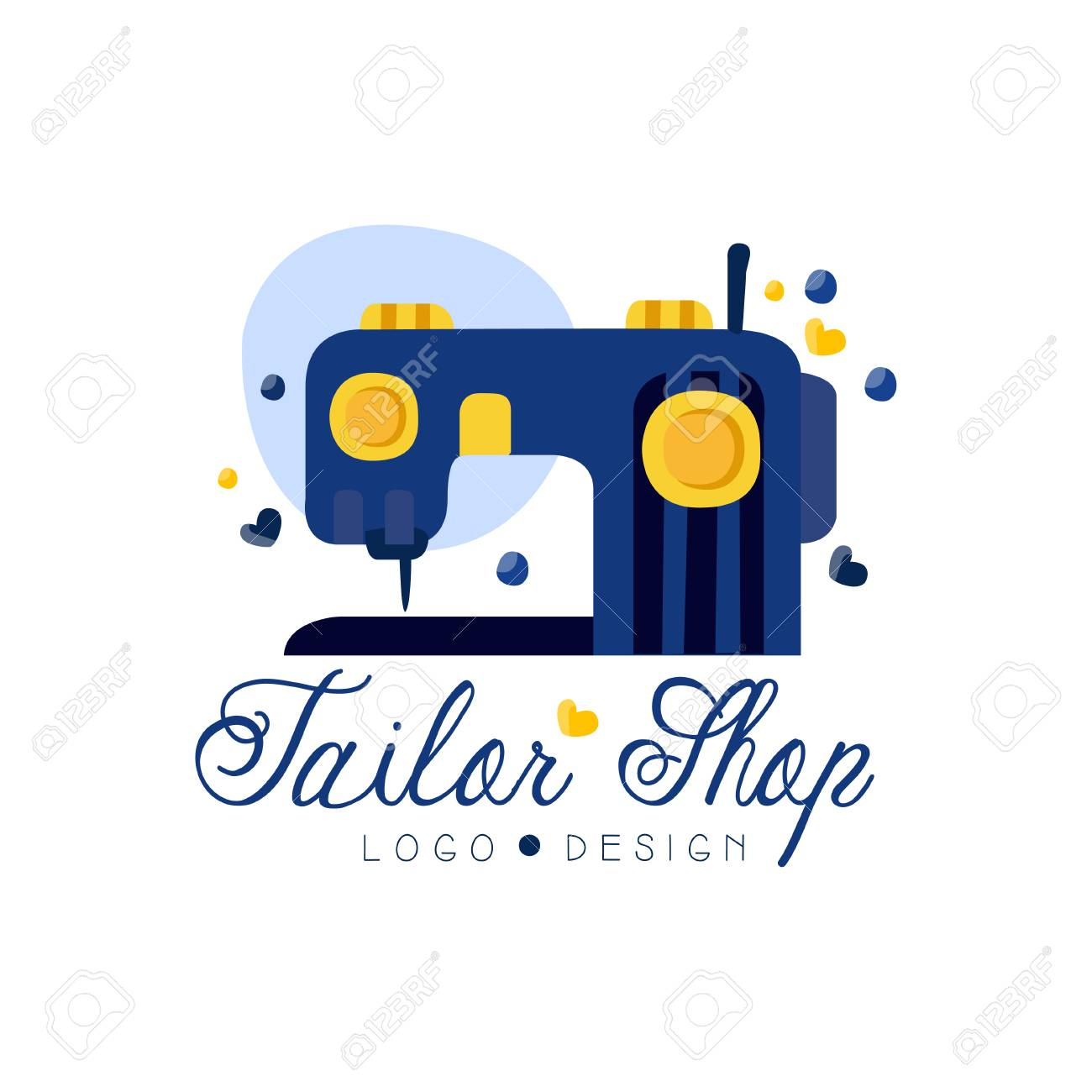 Tailor Shop Logo Design Emblem With Sewing Machine Fashion Royalty Free Cliparts Vectors And Stock Illustration Image 115658107