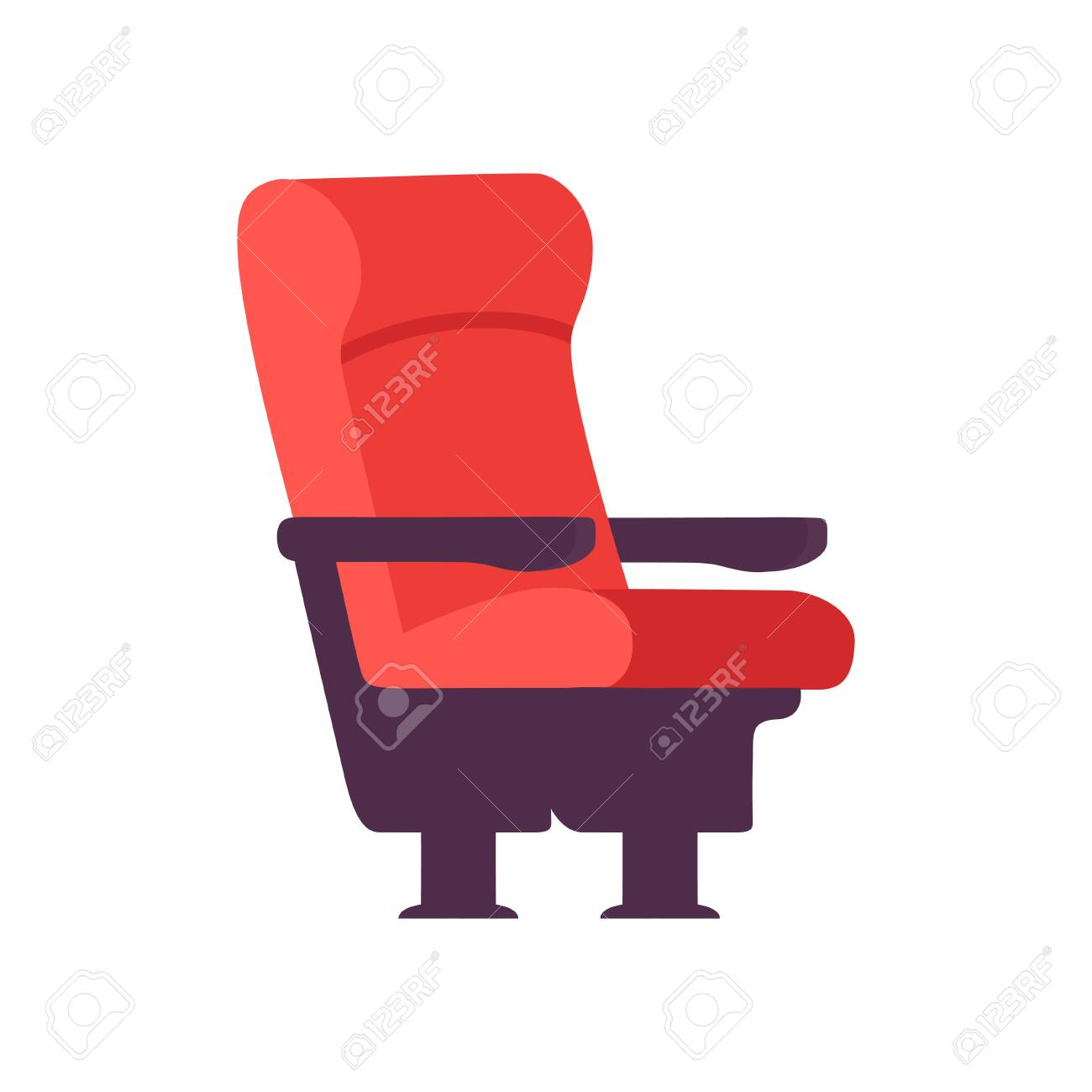Empty Red Comfortable Chair Cinema Movie Theater Seat Vector Royalty Free Cliparts Vectors And Stock Illustration Image 124143423