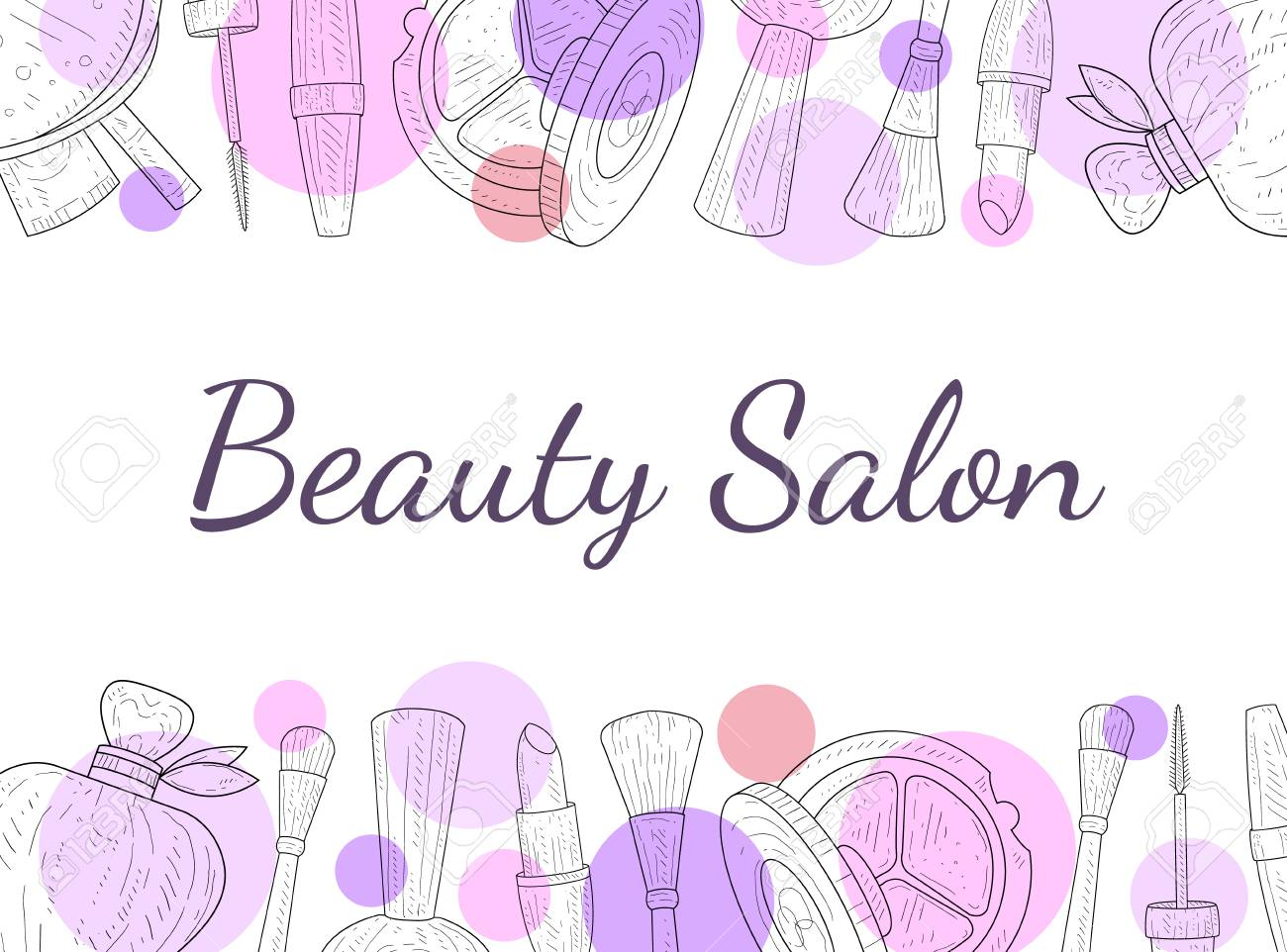 Beauty Salon Banner Template Cosmetics And Beauty Background Royalty Free Cliparts Vectors And Stock Illustration Image 121316483