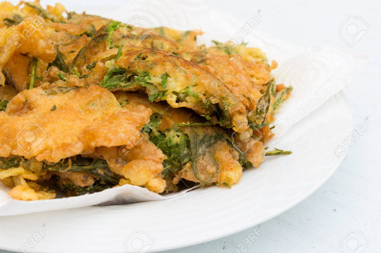 fried Cha Om food in Thailand Stock Photo - 19057745
