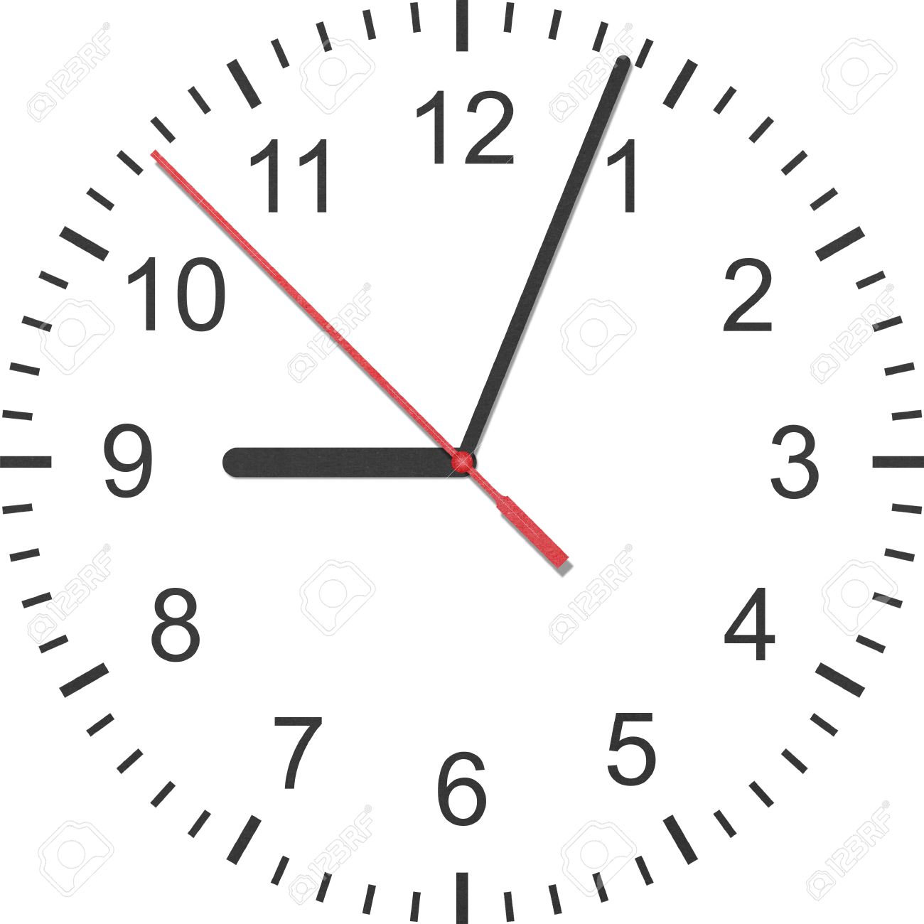 the paper cut of time clock watch is number with hour hand and