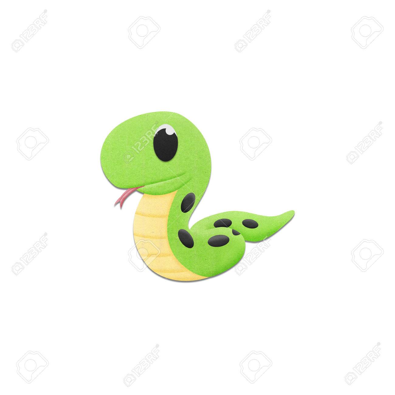 The cute snake is reptile animal cartoon in the zoo of paper stock stock photo the cute snake is reptile animal cartoon in the zoo of paper cut voltagebd Images