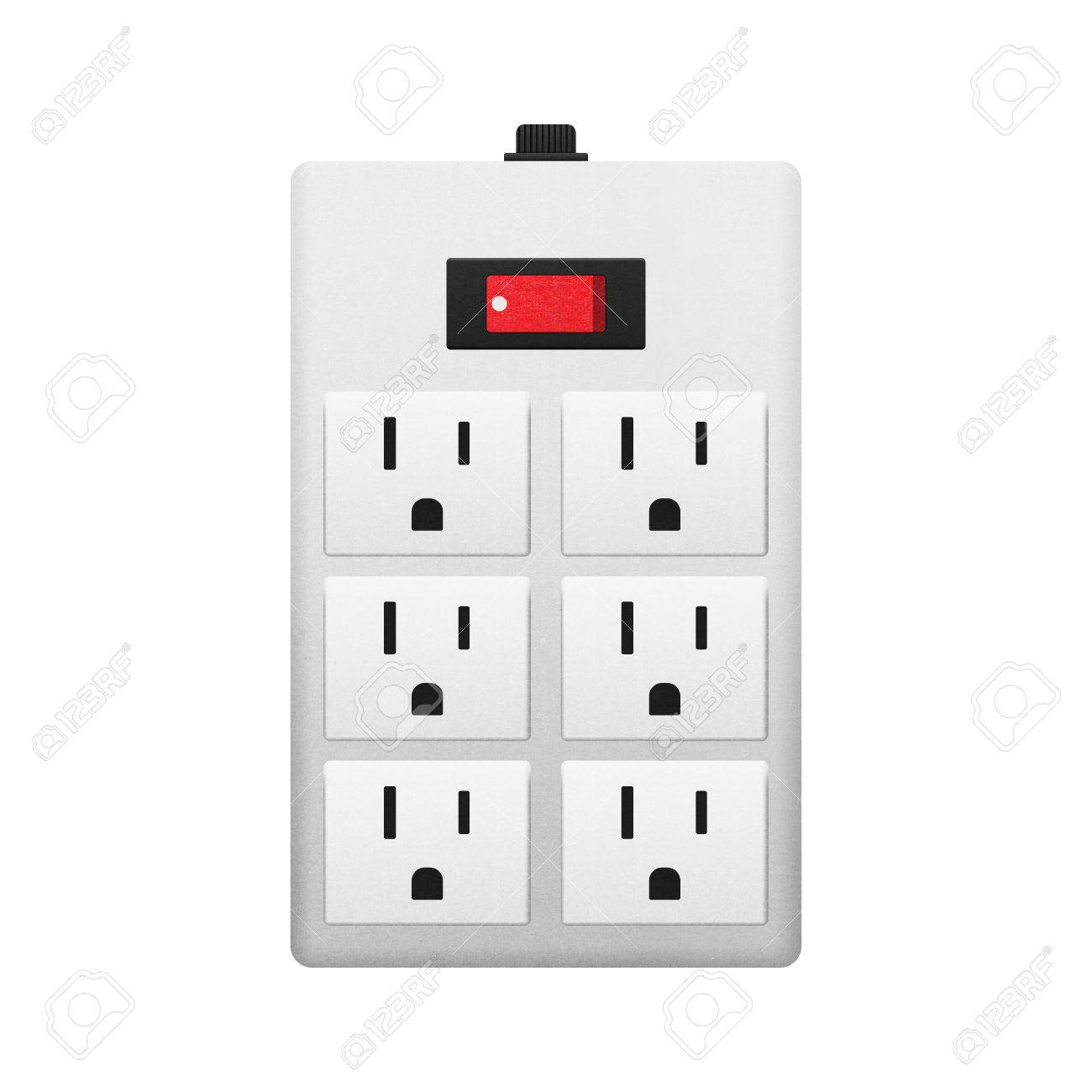 Electrical Outlet With Switch For Safety In The House Stock Photo ...