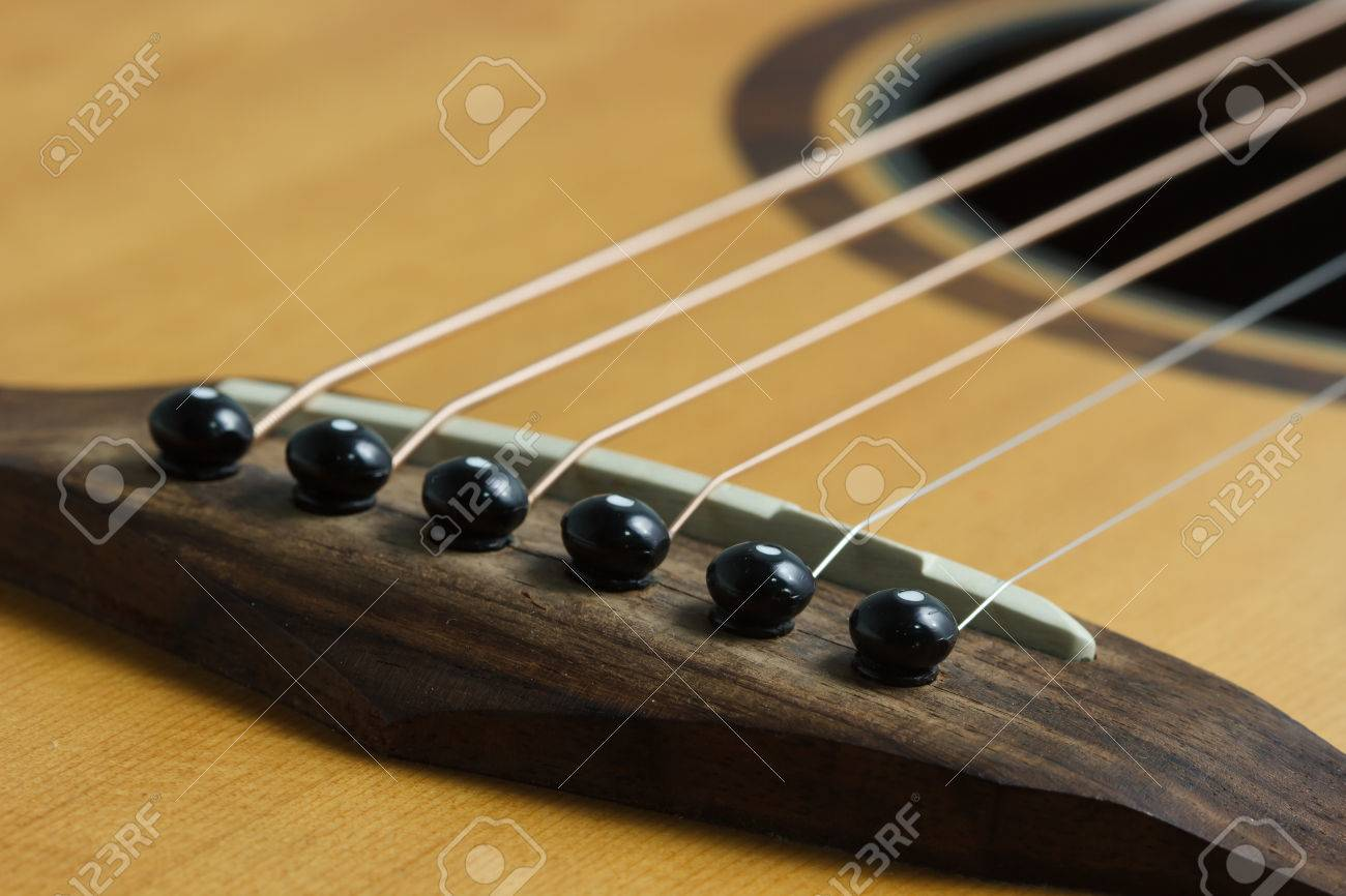 Still Life Photo By Acoustic Guitar Bridge Pins And Saddle Stock