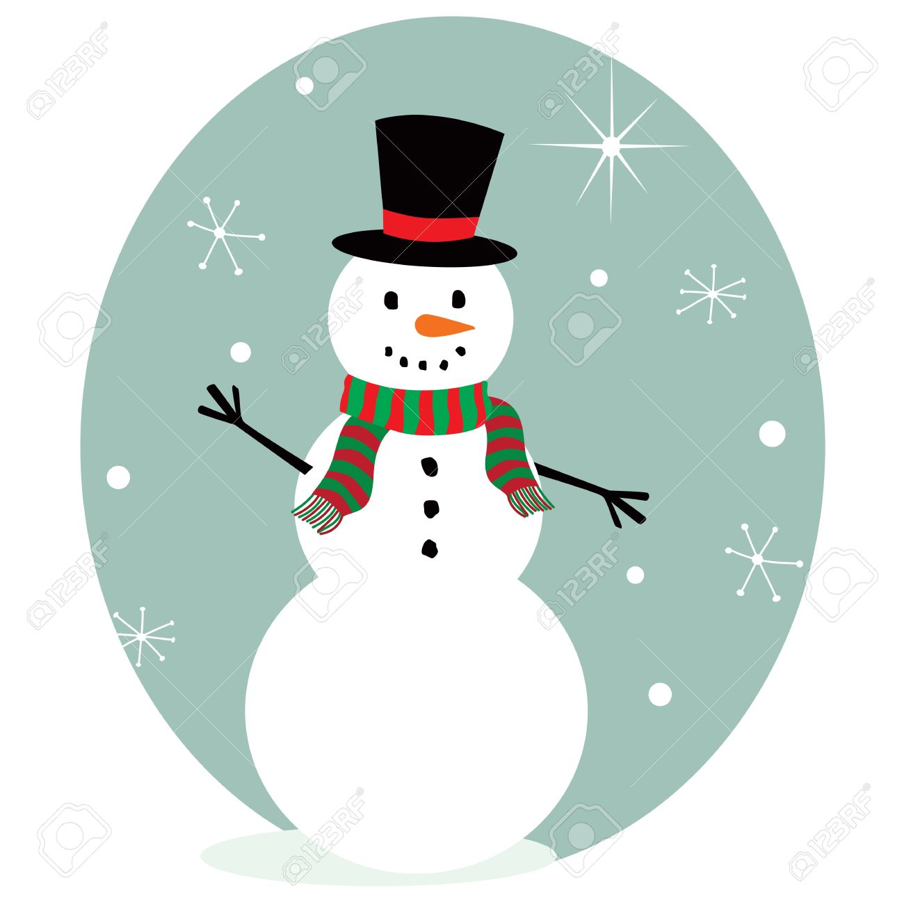 cute snowman royalty free cliparts vectors and stock illustration