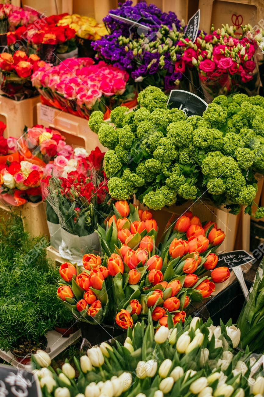 Beautiful Orange Tulips Peonies And Ranunculus Flower Bouquet Stock Photo Picture And Royalty Free Image Image 126262575