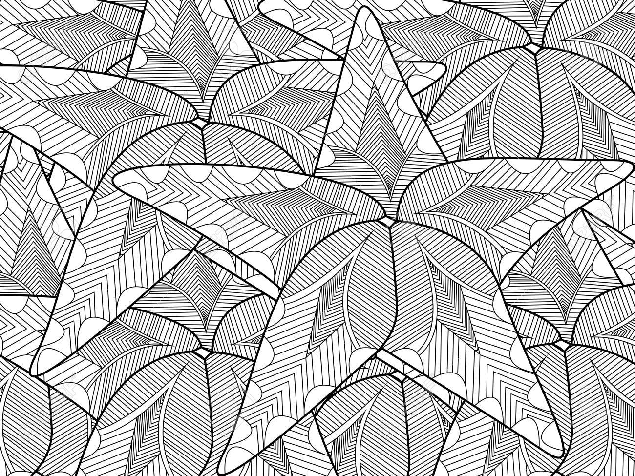 Starfish Coloring Book For Adults Vector Illustration Stock
