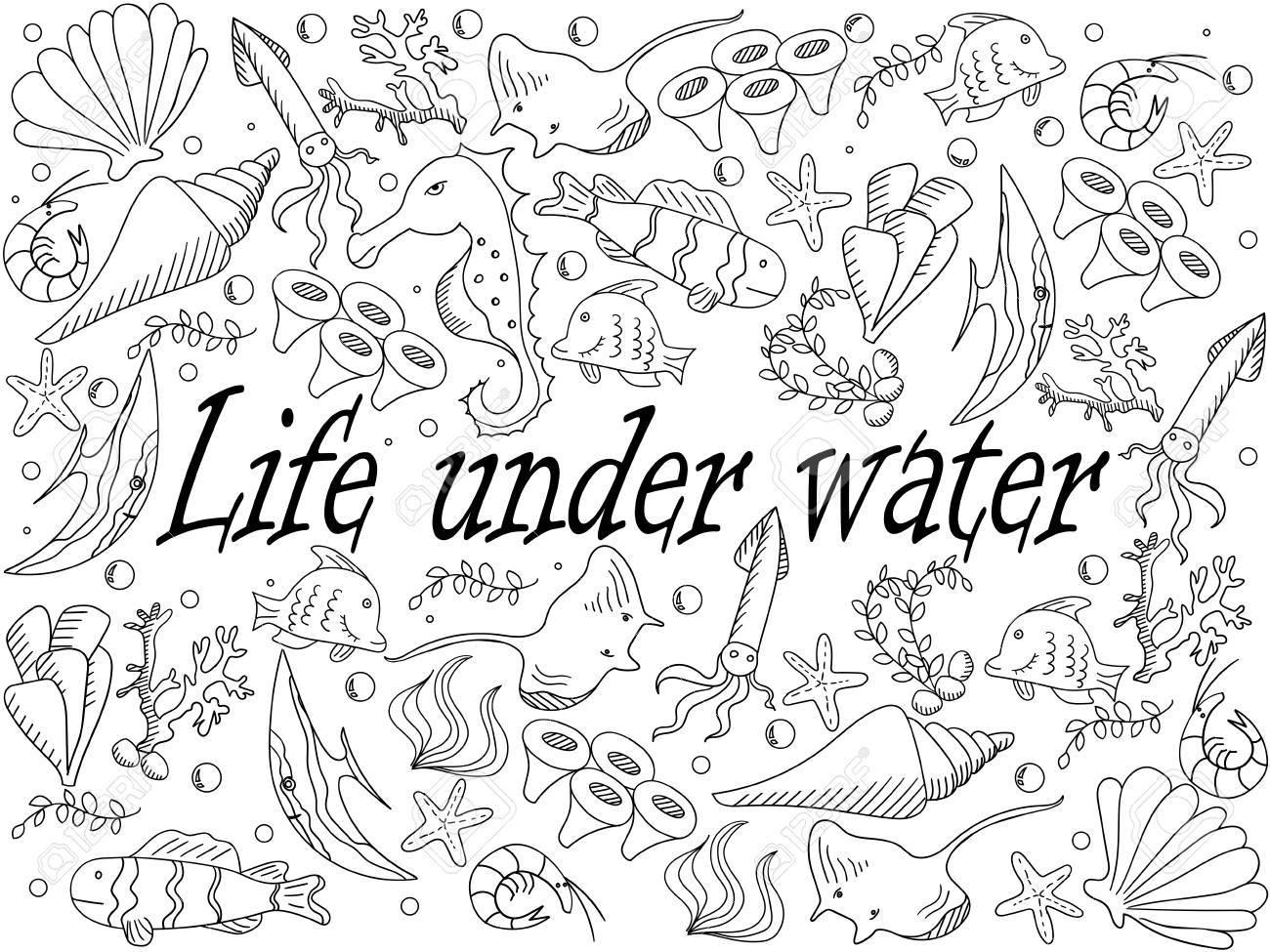 La Vida Bajo La Línea Ilustración De Libros De Arte De Diseño ...