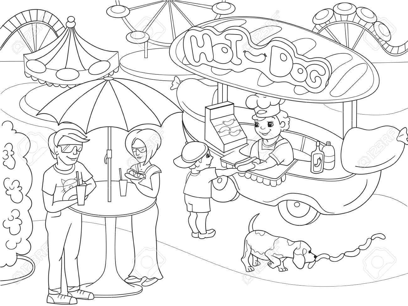 Hot Dog Coloring Pages - GetColoringPages.com | 975x1300