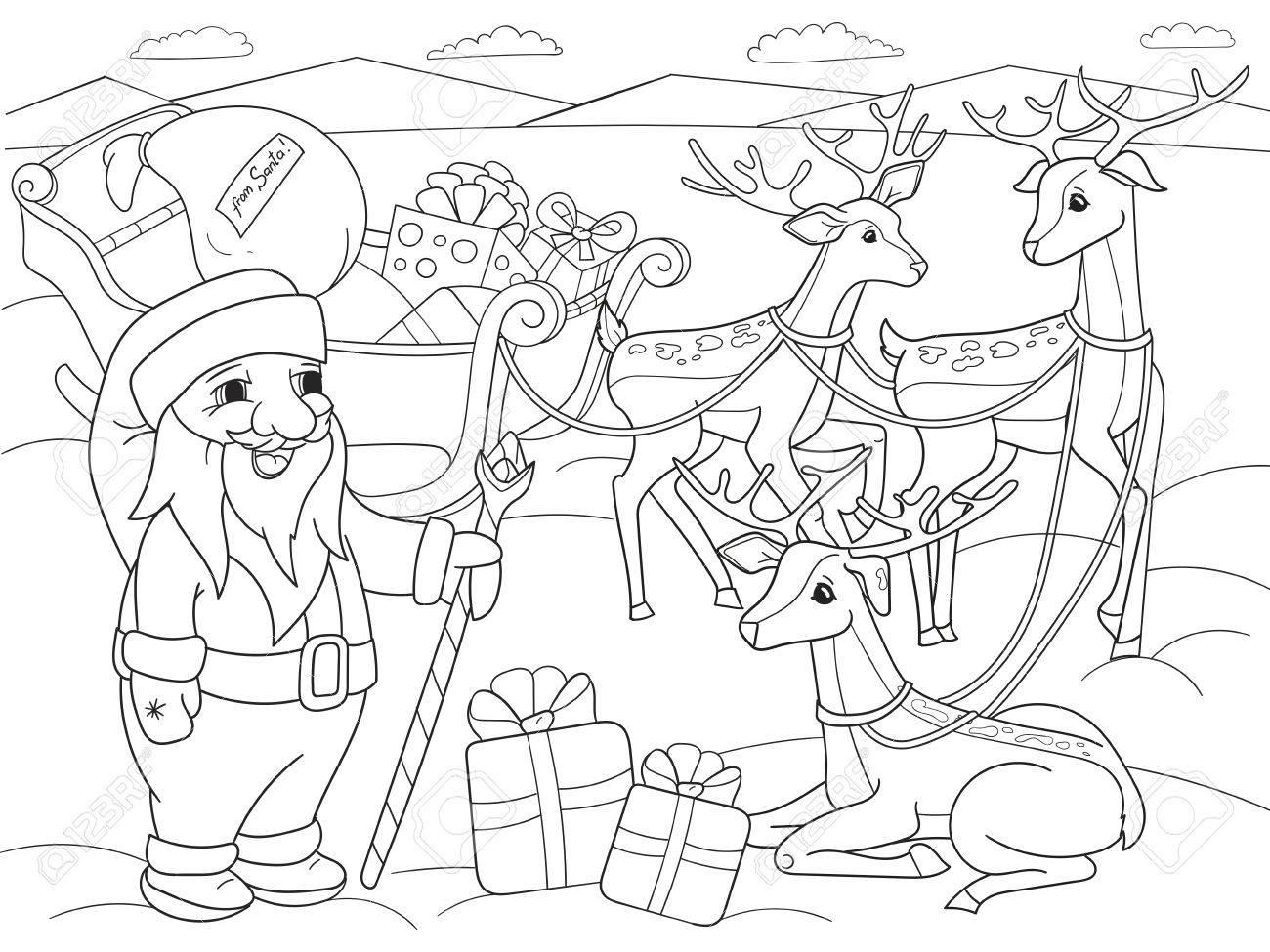 Coloriage Animaux Amis De Dessin Anime Pour Enfants Dans La Nature