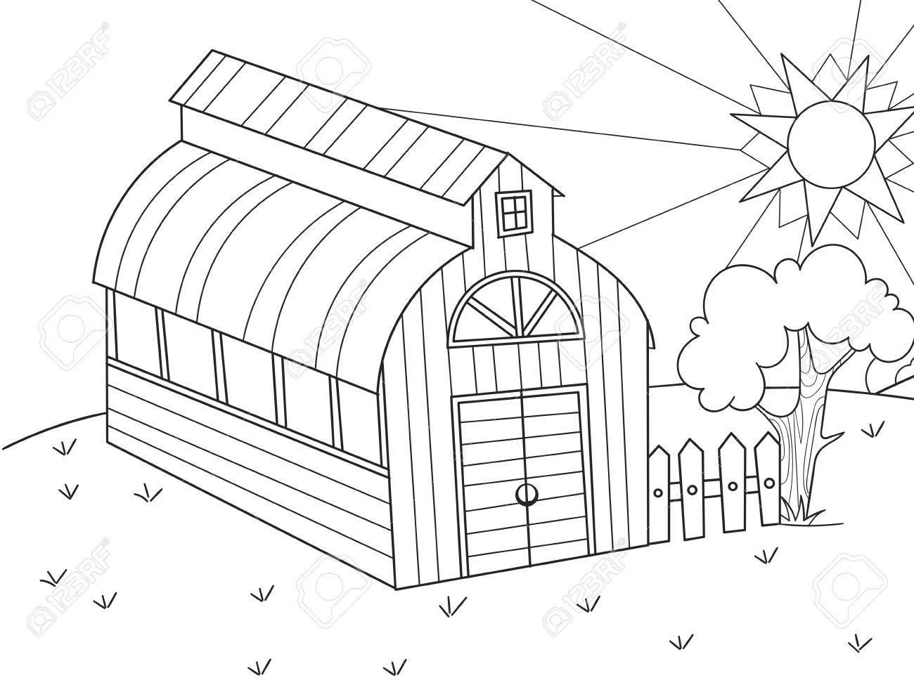 Hangar For Food Animals Barn Vector Of A