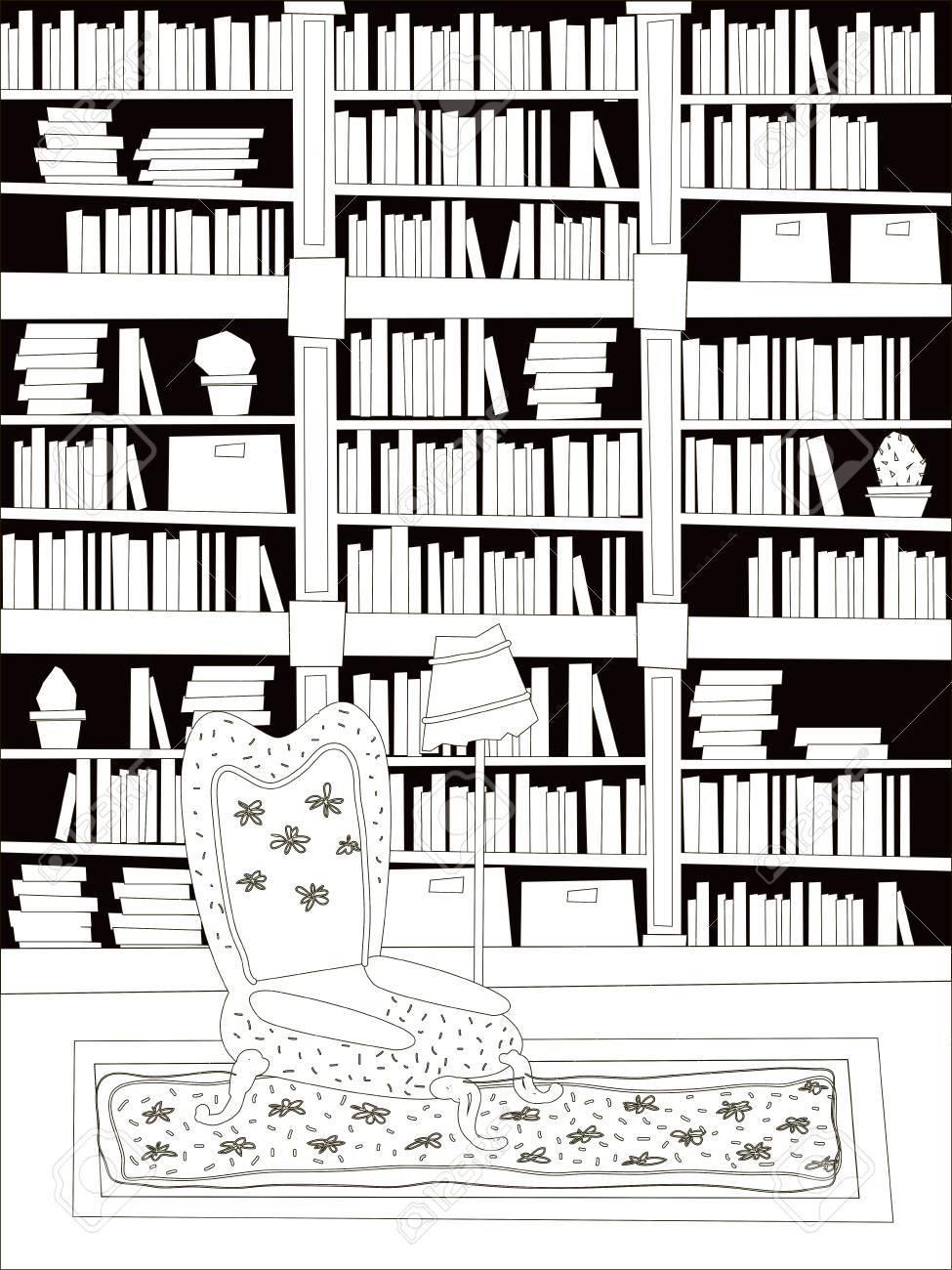 Ilustración De Vector De Dibujos Animados Plana Habitación De
