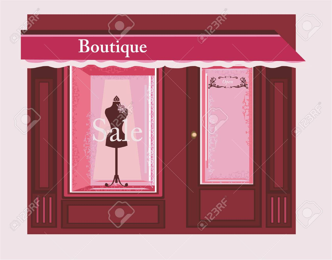 Chic Boutique Stock Vector - 4017236