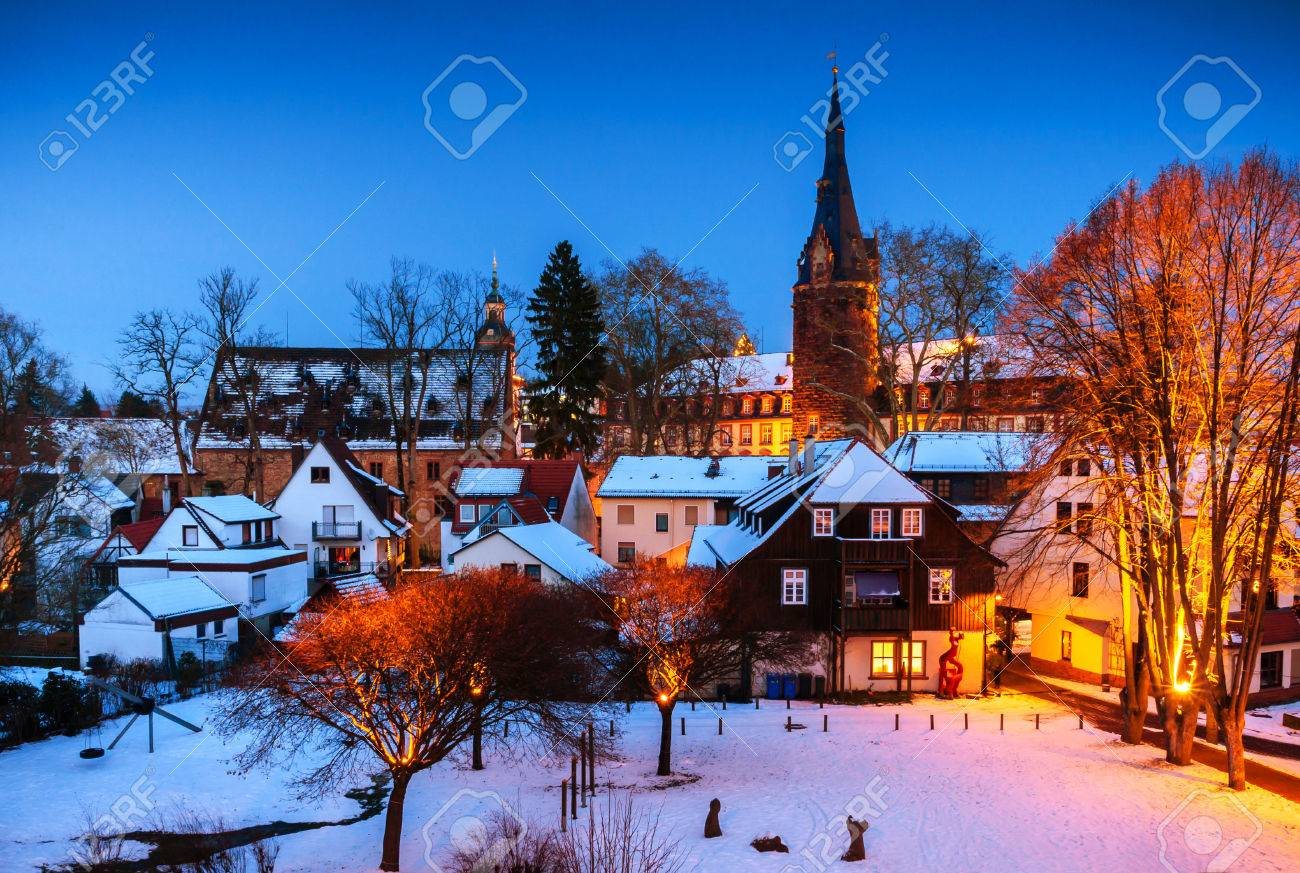 Winter In Erbach In Odenwald Hessen Germany Stock Photo Picture - Hessen germany
