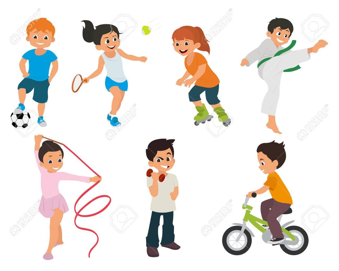 Deportes De Los Ninos Estan Involucrados Activamente En El Deporte Deportes De Los Ninos Estan Haciendo En Diferentes Tipos De Deportes Karate