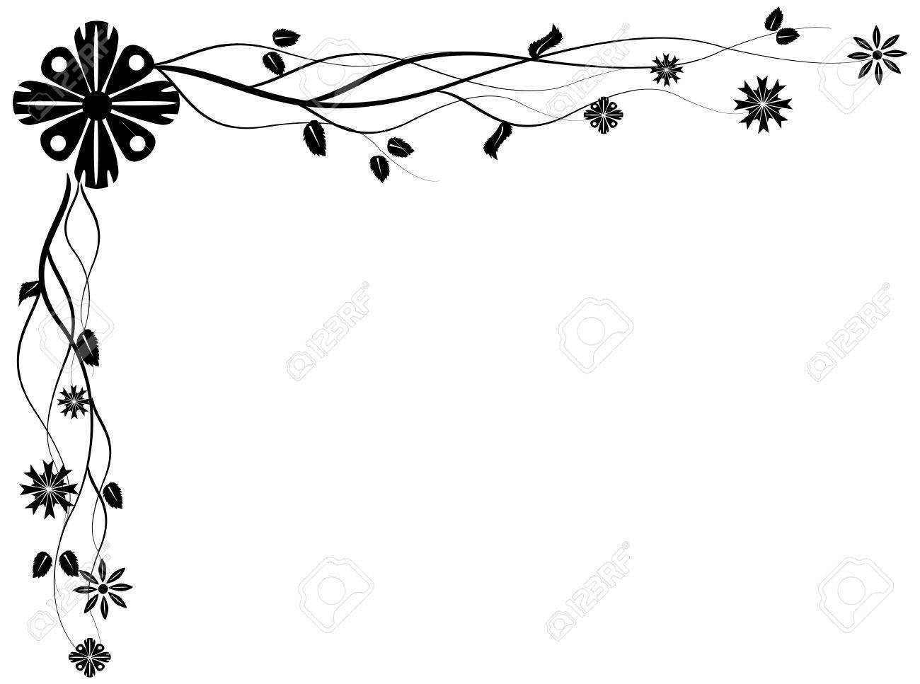 vectorized floral corner design element you can resize and color