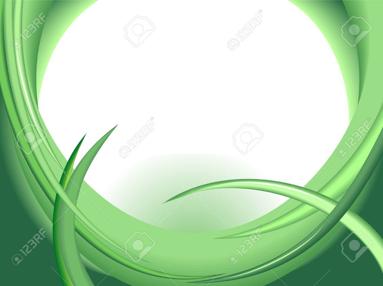 Green abstract design Stock Vector - 5298615