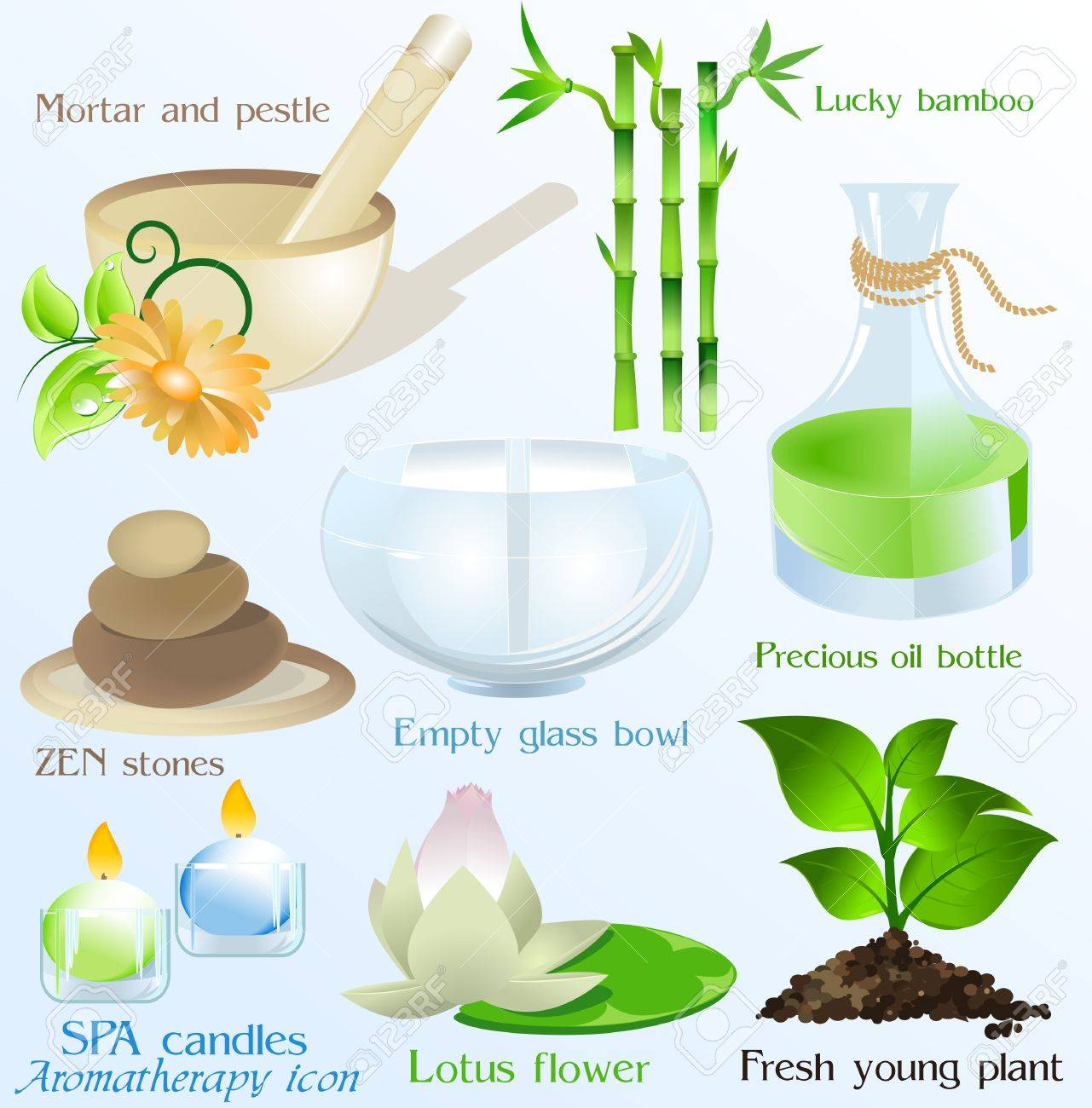 Spa icons/ objects vector set Stock Vector - 6286729