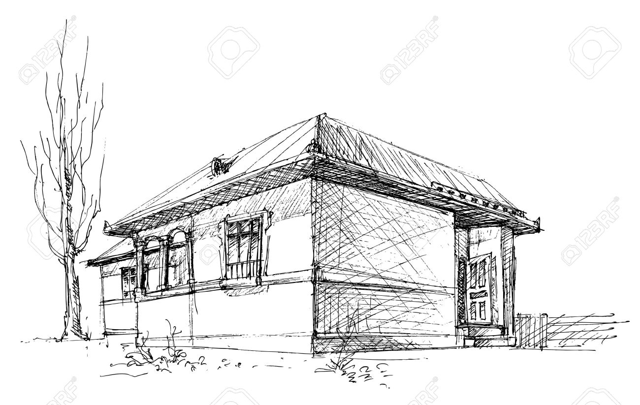 House sketch stock vector 6529045