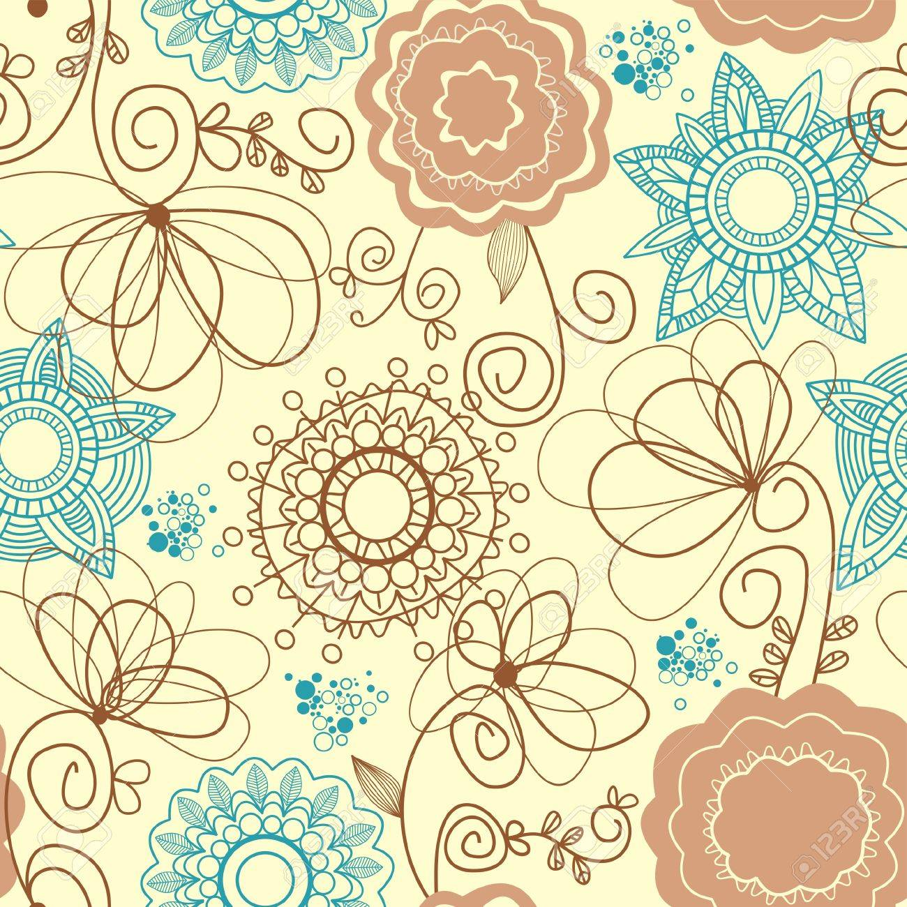Retro floral background Stock Vector - 7562919