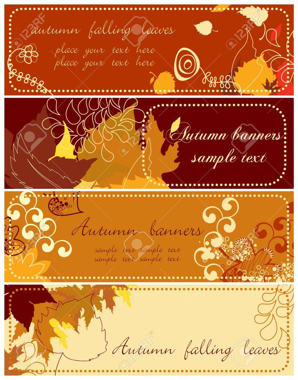 Autumn banners collection 2 Stock Vector - 7700355