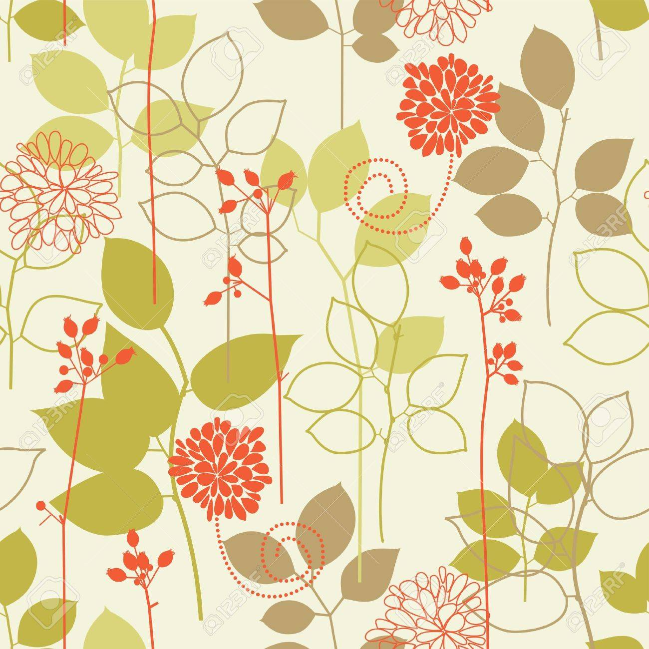 Retro floral seamless background Stock Vector - 7860333