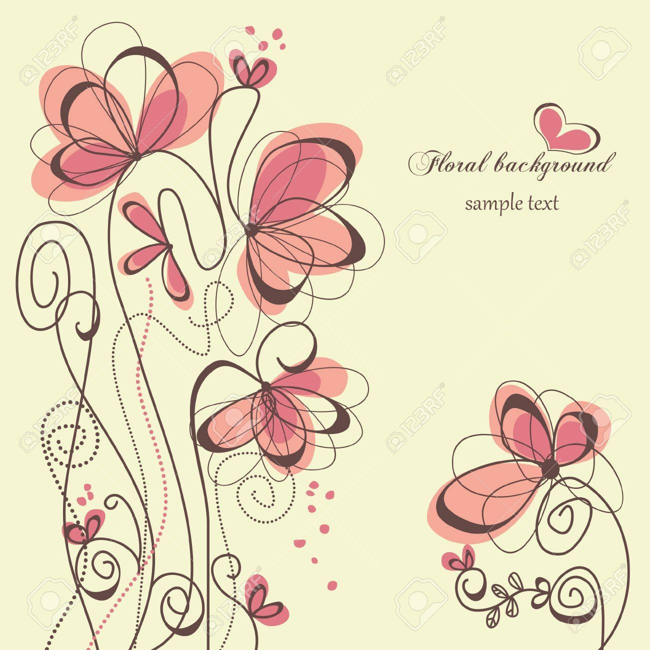 Cute floral background Stock Vector - 7964014