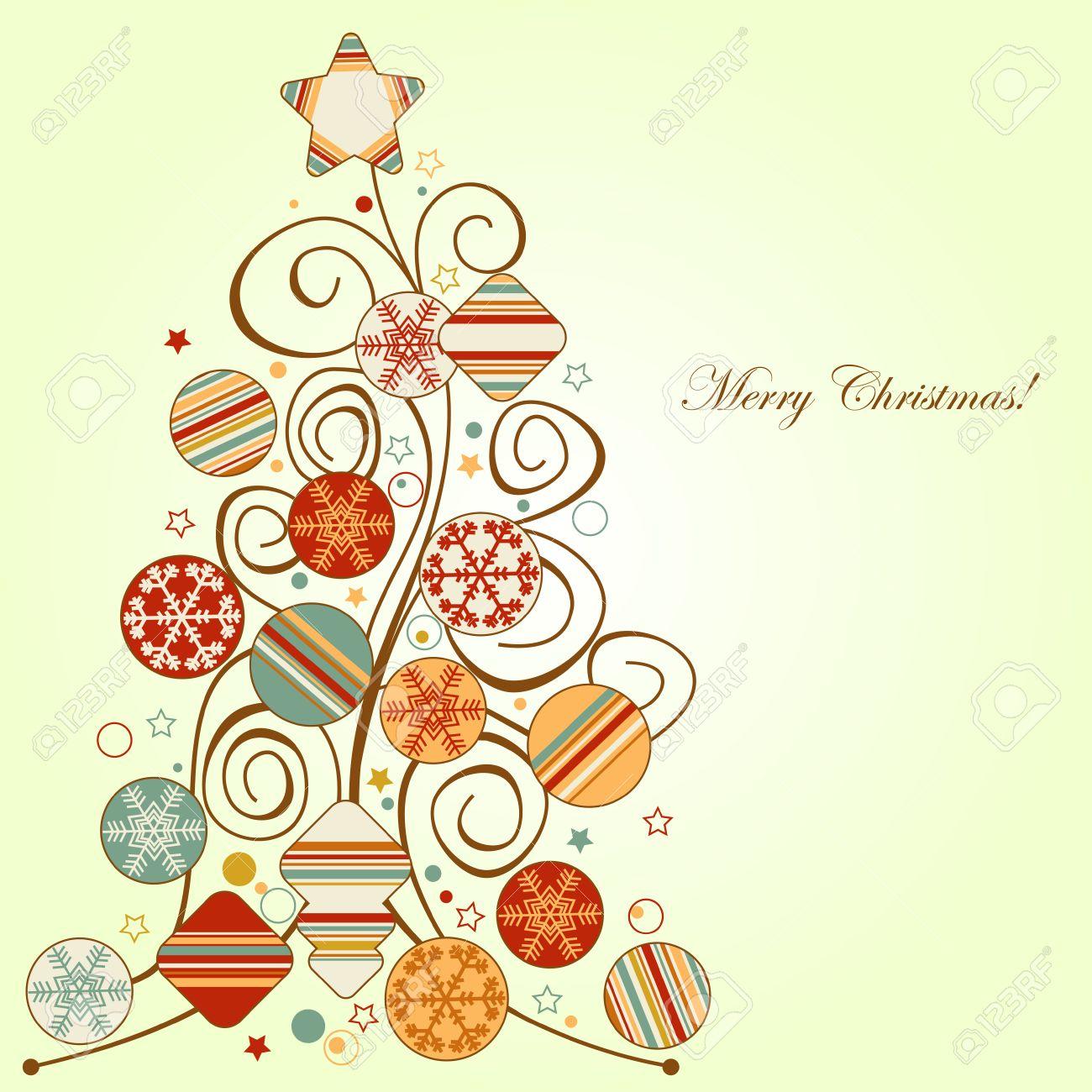 retro christmas tree stock vector 8132491 - Retro Christmas Tree