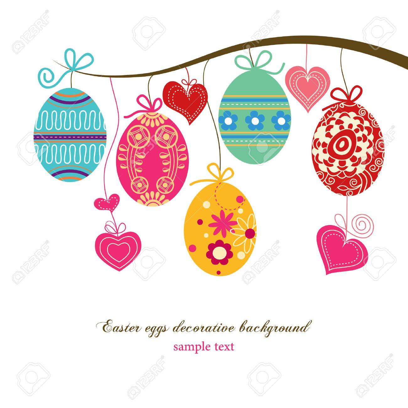 Easter eggs background Stock Vector - 9056295