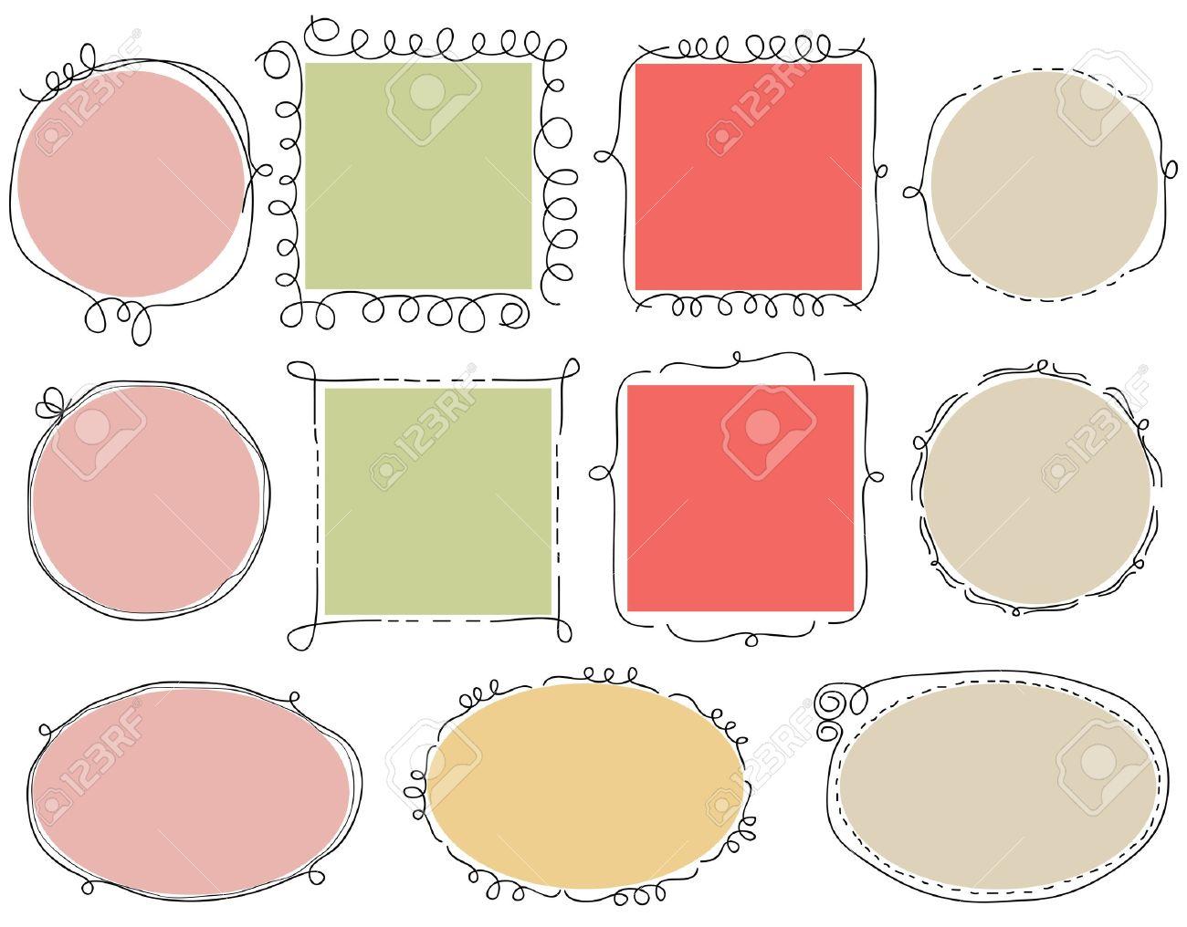 cute doodle frames stock vector 9692761