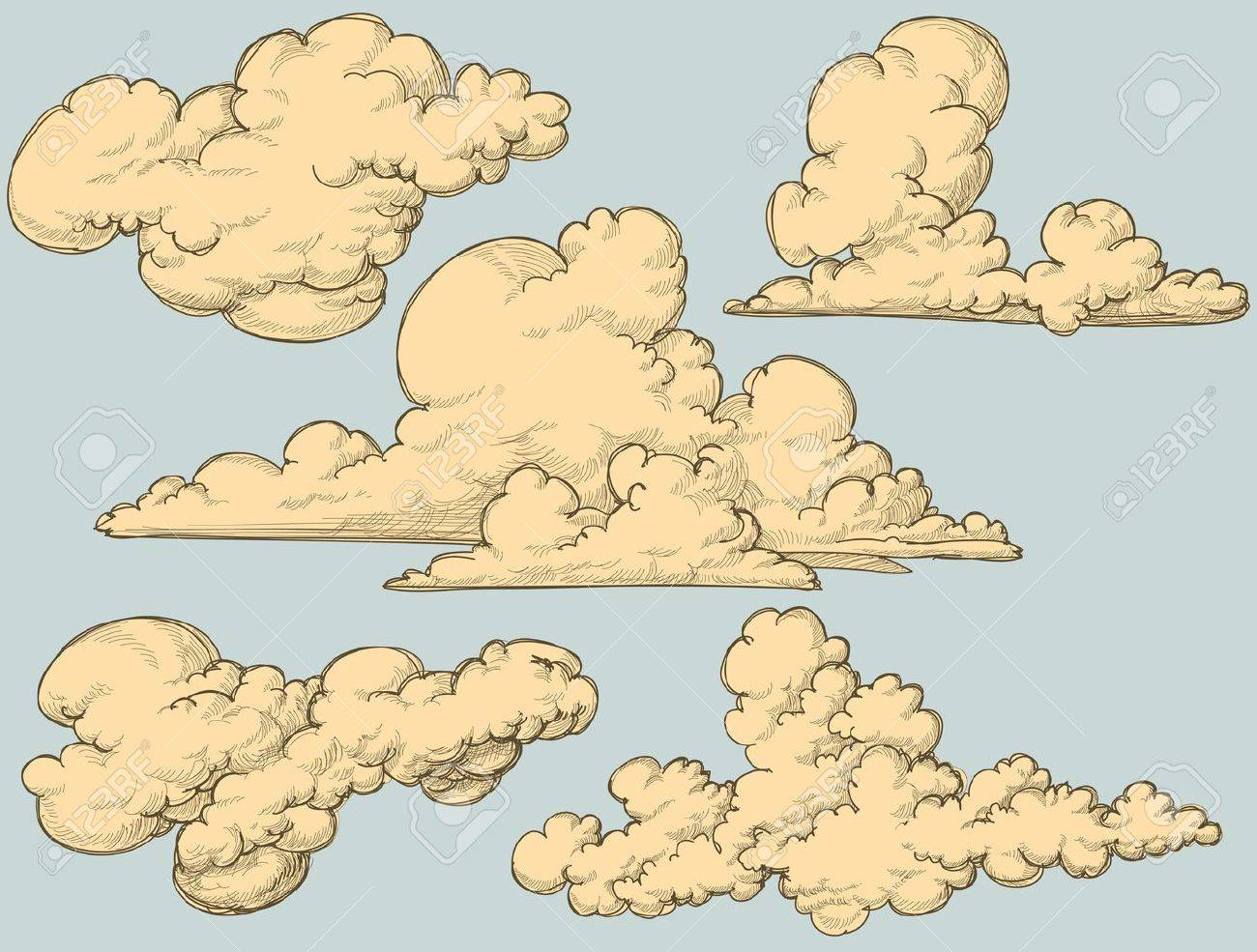 Vintage clouds Stock Vector - 10086975
