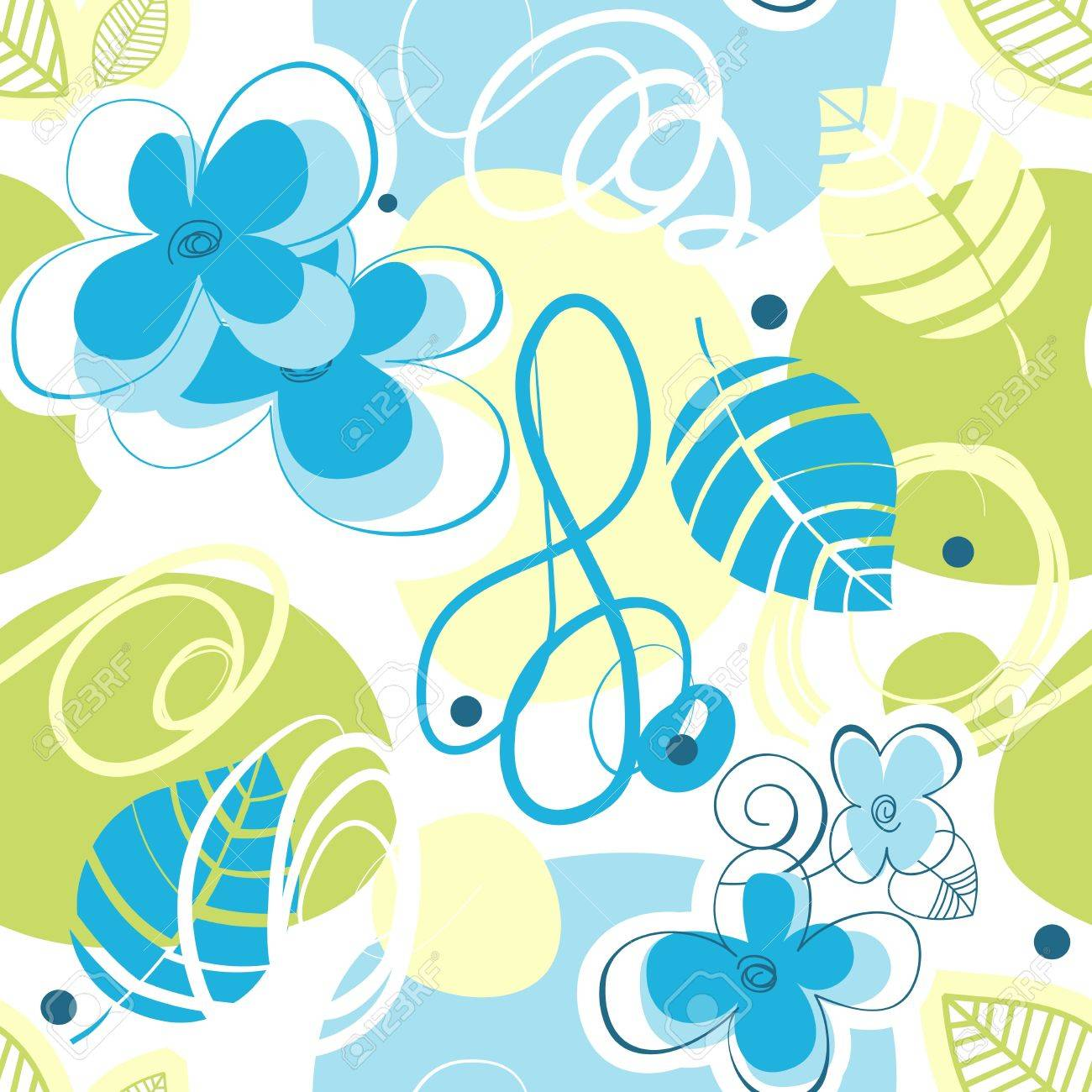 Floral seamless pattern Stock Vector - 10393994