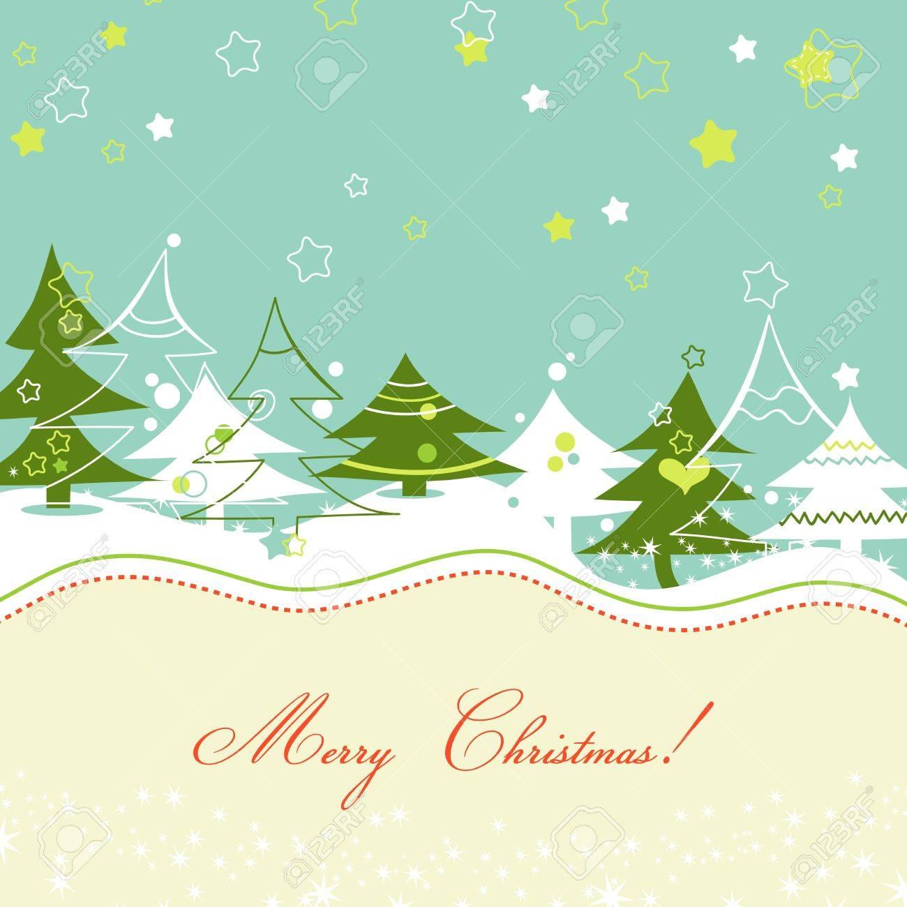 Christmas trees Stock Vector - 10481693