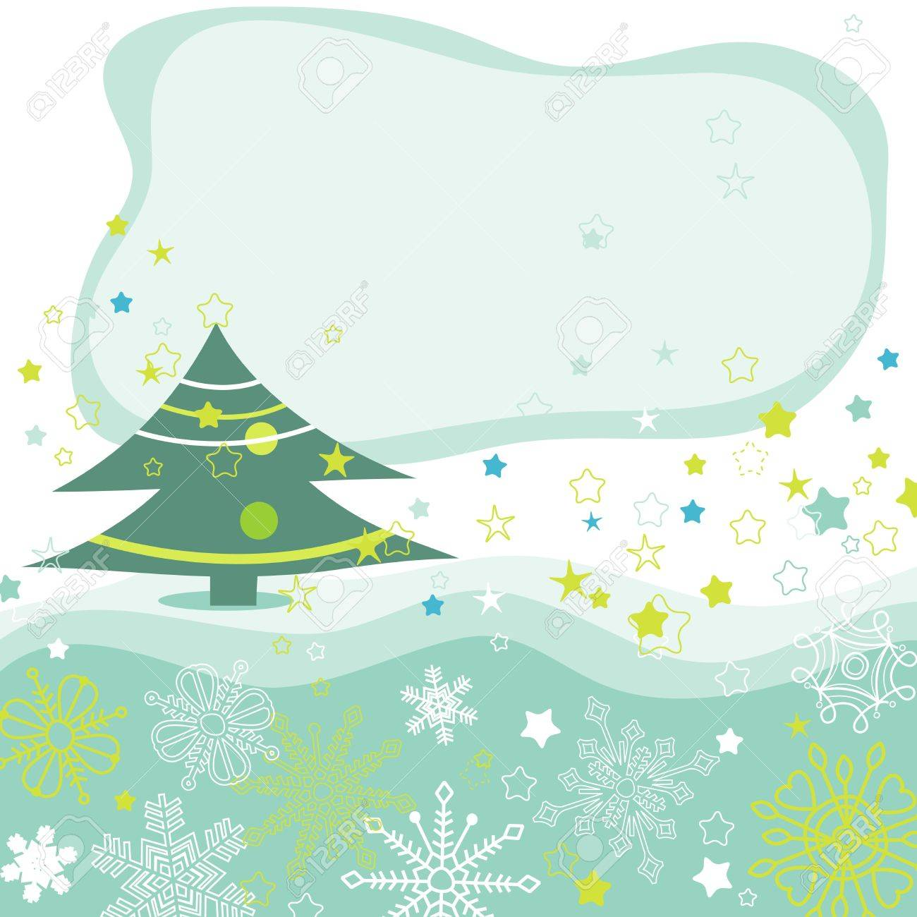 Christmas tree vector background Stock Vector - 10481696