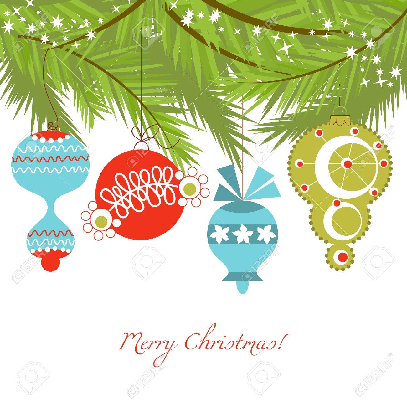 Christmas Ornaments: Christmas Ornaments Vector Background Illustration