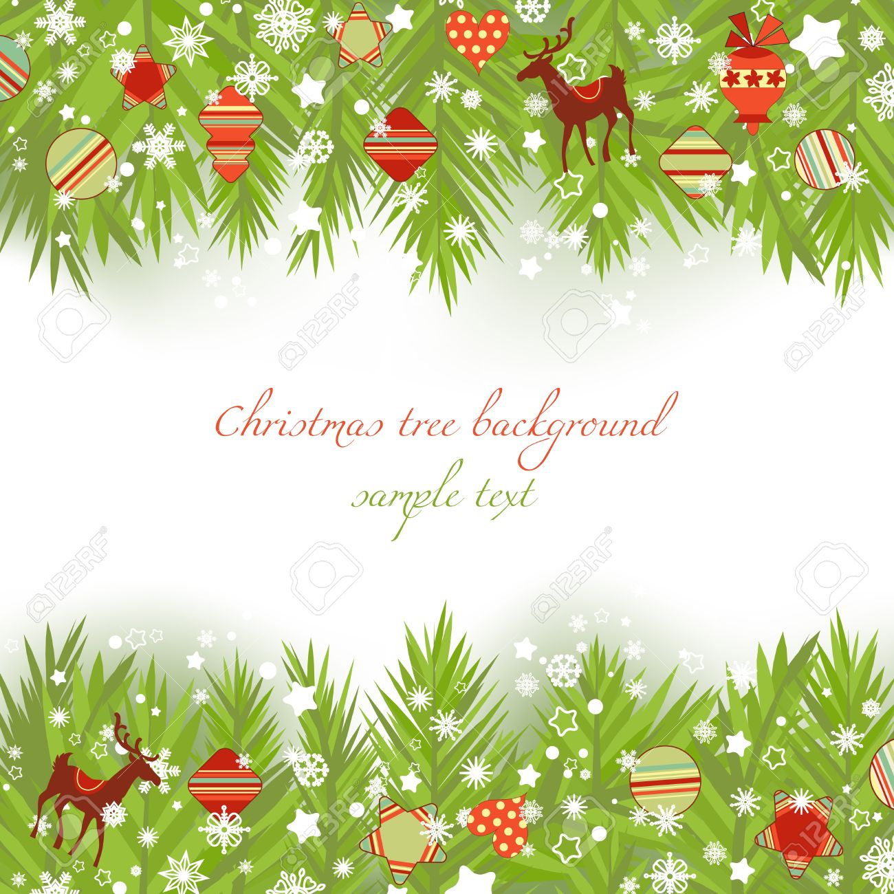 Christmas tree borders vector illustration Stock Vector - 11377017