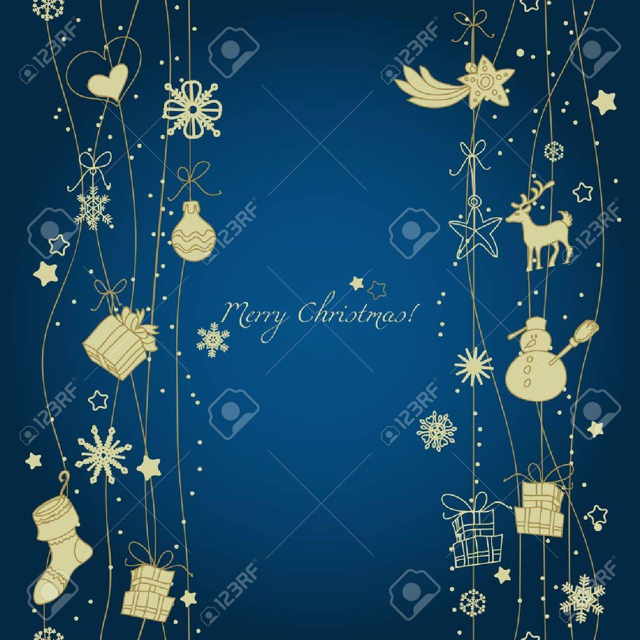 Christmas decoration seamless pattern Stock Vector - 11377029