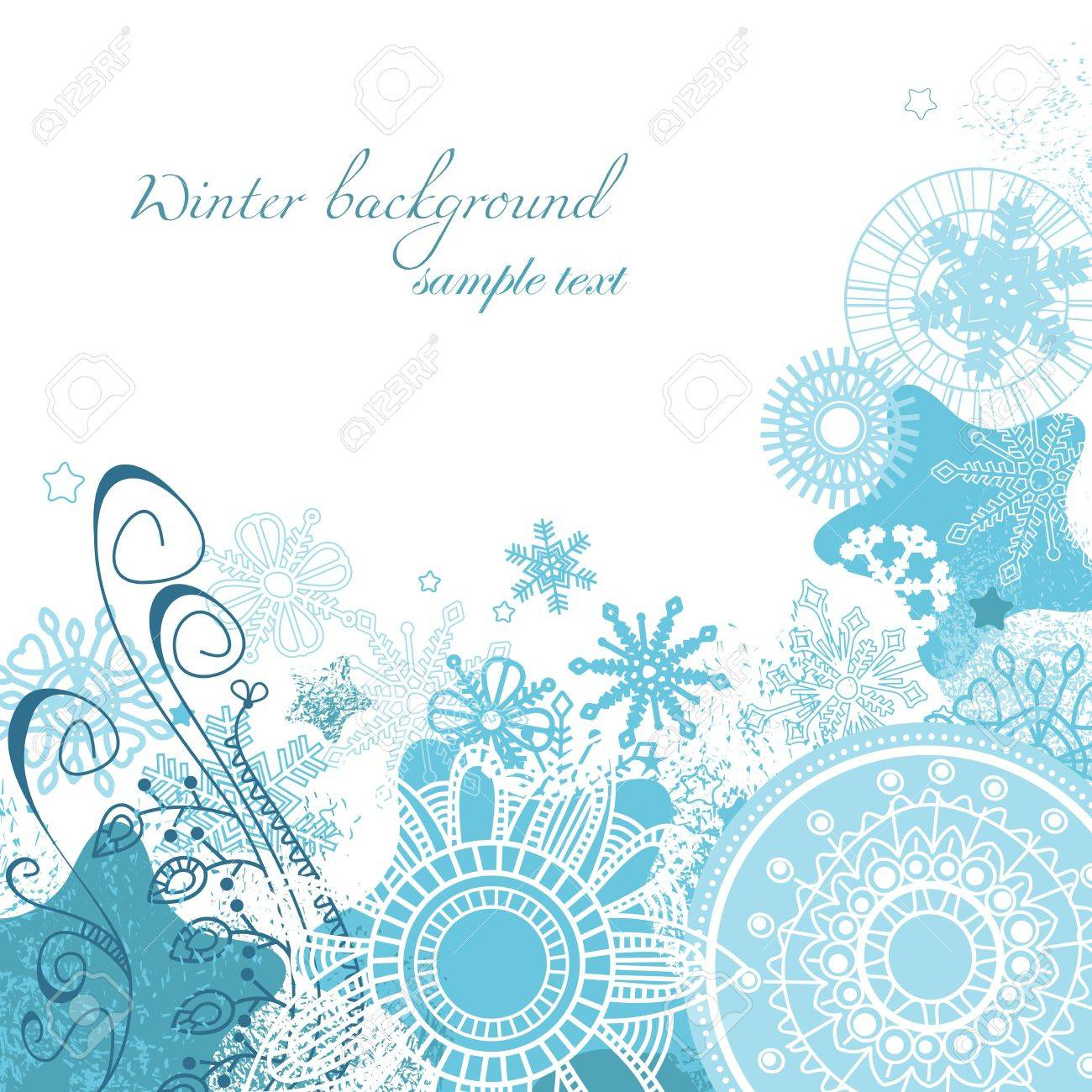Vector winter background Stock Vector - 11377072