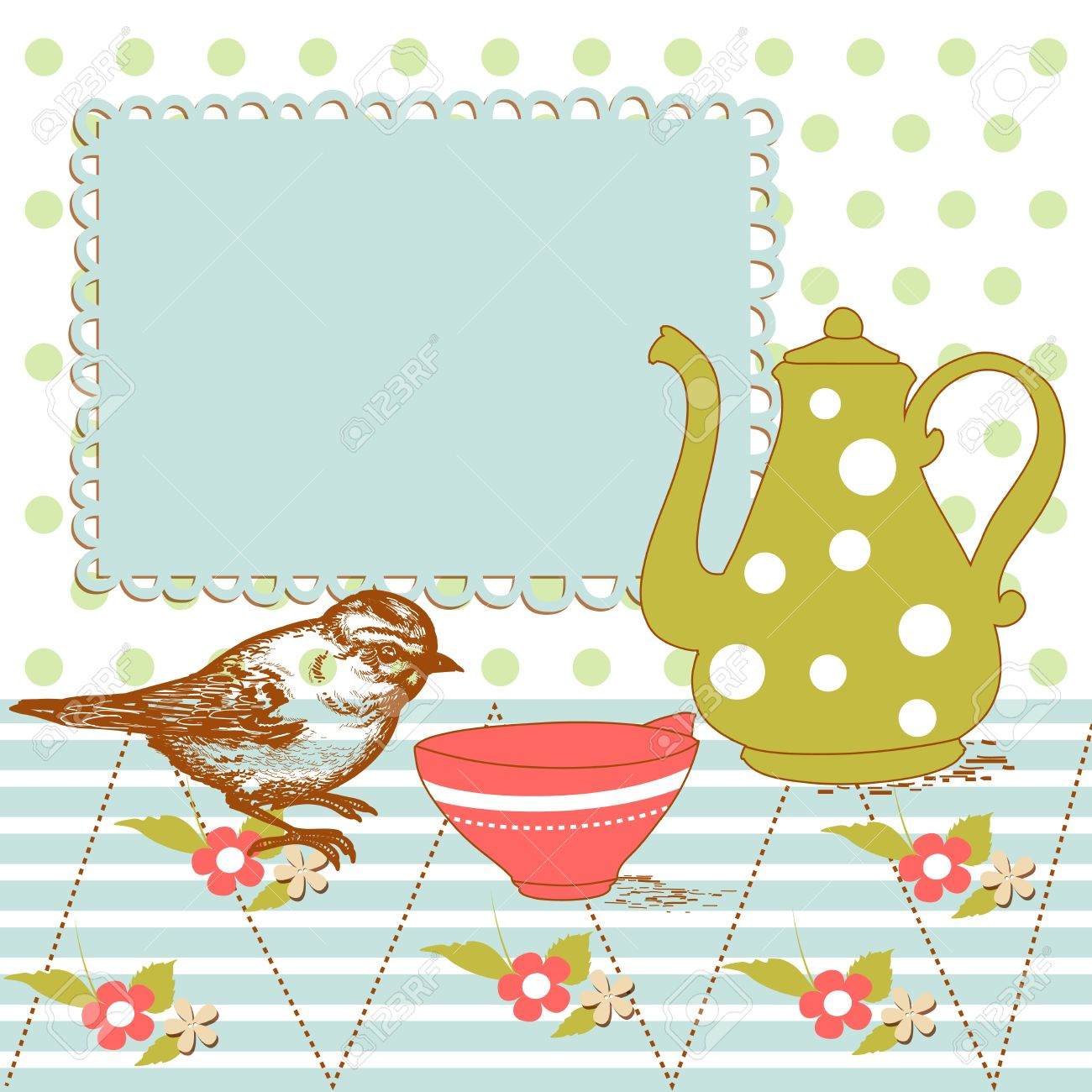 Kitchen Tea Bird And Tea In The Kitchen Royalty Free Cliparts Vectors And