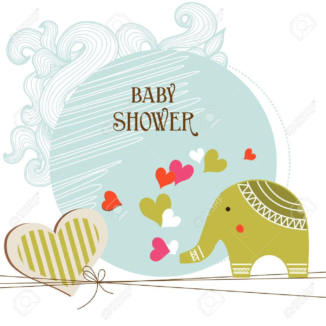 Baby Shower Card Template Royalty Free Cliparts, Vectors, And ...