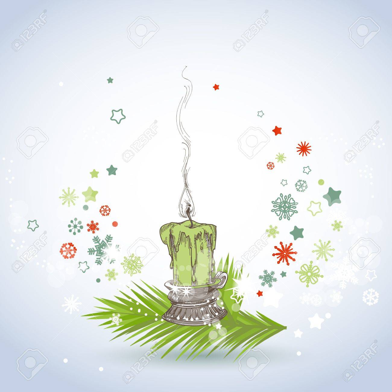 Christmas candle Stock Vector - 15437106