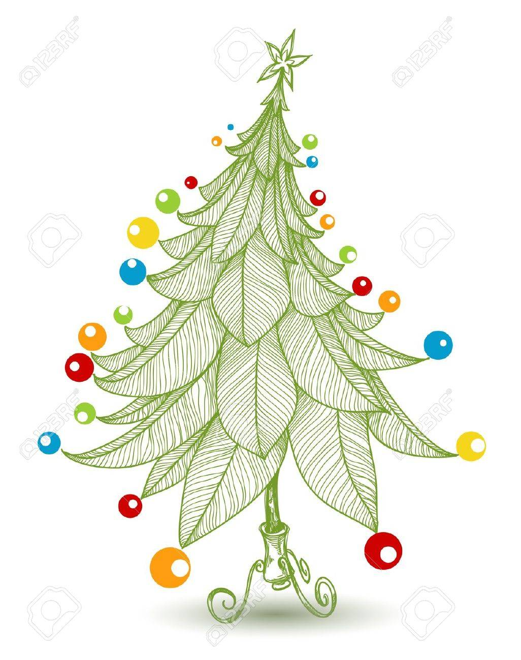 brightly decorated christmas tree for children stock vector 15941110 - Christmas Images For Children