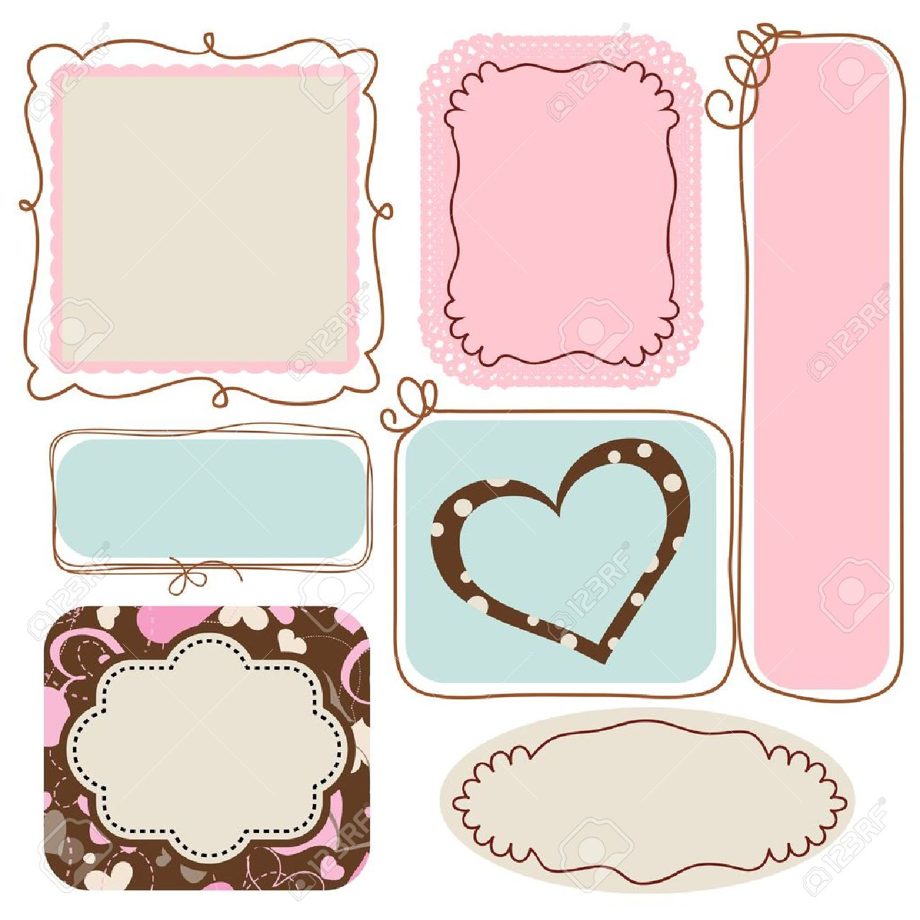 Blank Cute Frames For Text Royalty Free Cliparts, Vectors, And Stock ...