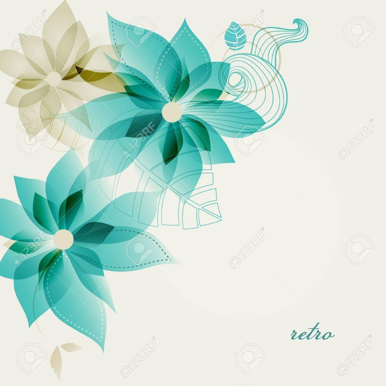 Retro floral background vector Stock Vector - 19375676