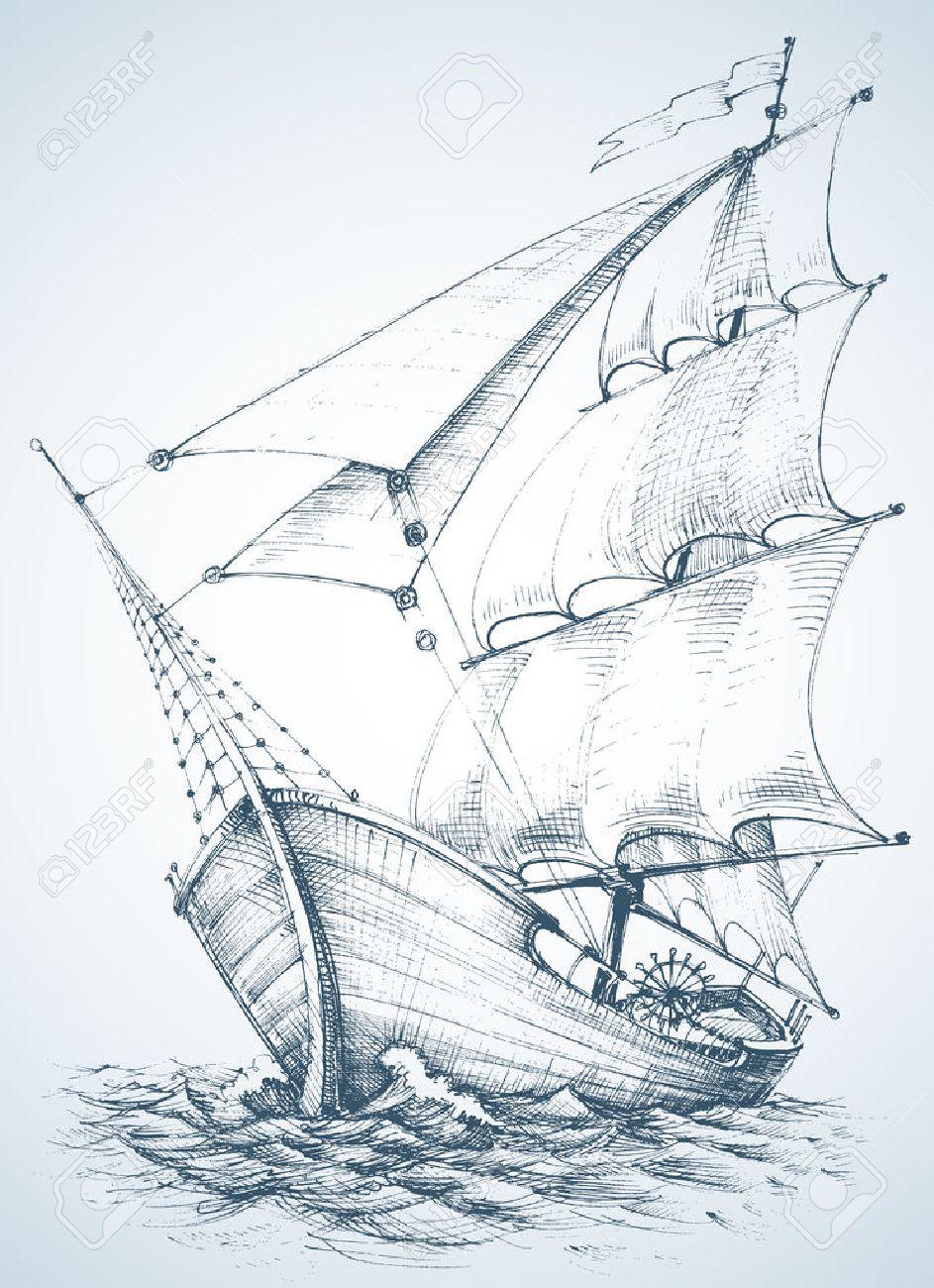 Sailboat wallpaper Stock Vector - 40928555