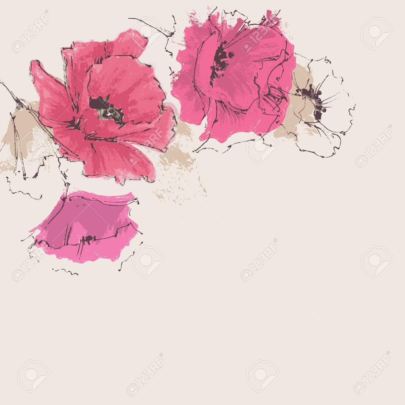 Artistic floral background - 40929174